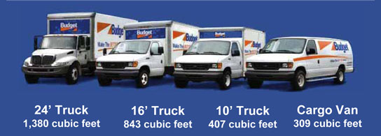 Reserve your rental truck with Budget Truck Rental at Truck Body East while your truck is being worked on.