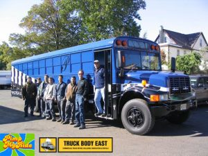 Truck Body East pimps School Bus for Pequannock High School